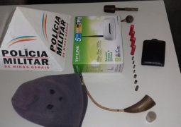 Após resistir saída de residência, homem é preso com várias munições e materiais roubados em São Gotardo