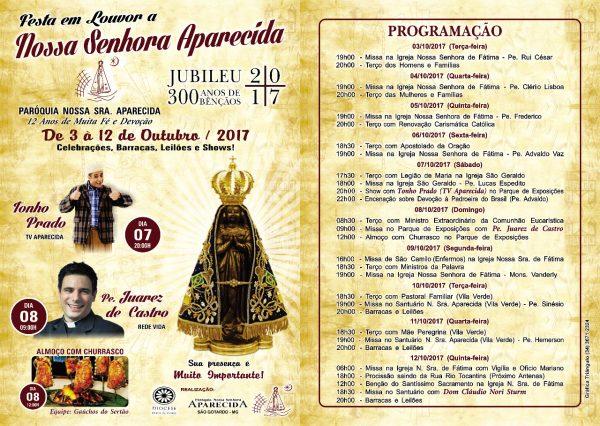 Foto Capa: Paróquia Nossa Senhora Aparecida de São Gotardo