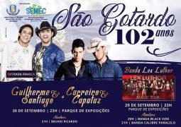Com shows de Carreiro e Capataz e Guilherme e Santiago, festa de aniversário de São Gotardo acontece nos dias 29 e 30 de Setembro no Parque de Exposições