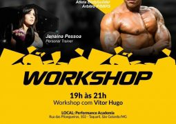 Workshop com o atleta bodybuilder e árbitro IFBBRS, Vitor Hugo, será realizado em São Gotardo