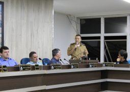 Em Reunião Ordinária, Comandante da PM fala sobre o trabalho dos Vereadores de São Gotardo