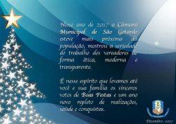Câmara Municipal encerra ano com mensagem de Feliz Ano Novo e agradecimento para a população de São Gotardo