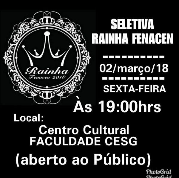 Foto Capa: Reprodução/Facebook/Rainha da Fenacen 2018