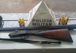 Polícia Militar Rodoviária Estadual realiza a prisão de homem por porte ilegal de arma de fogo na BR-354