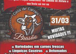 Casa de Carnes Brasão prepara várias surpresas para sua inauguração oficial neste Sábado de Aleluia