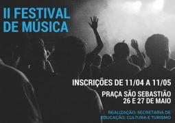 Inscrições para o 2º Festival de Música de São Gotardo começam nesta próxima quarta-feira