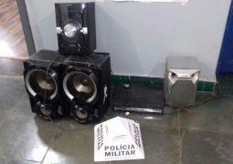 PM realiza apreensões de aparelhagem sonora e veículos causadores de pertubação de sossego em São Gotardo