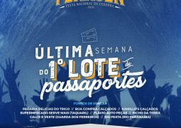 Venda do primeiro lote de passaportes da Fenacen 2018 se encerra nesta sexta-feira
