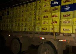 Polícia realiza a prisão de autores de roubo de caminhão carregado com cargas de cervejas na BR-354