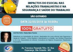 Palestra sobre as novas mudanças do eSocial acontece em São Gotardo nesta terça-feira