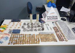 PM realiza prisões de autores e apreensões de drogas e dinheiro em São Gotardo