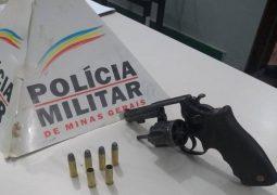 Durante patrulhamento na MG-235 em São Gotardo, PM prende homem e apreende arma