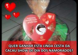 Pizzaria Dias sorteará CESTA DE CHOCOLATES neste Dia dos Namorados! Clique e saiba como participar