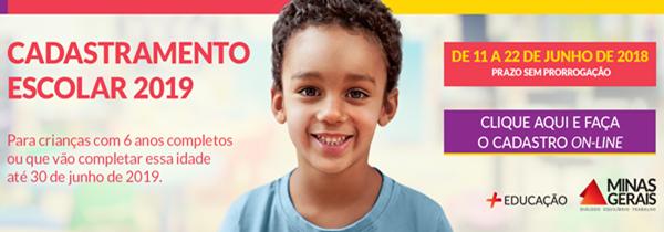 Foto Capa: https://www.educacao.mg.gov.br/component/gmg/story/9810-comeca-hoje-11-06-o-cadastramento-escolar-2019