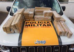 Droga que seria distribuída em Patos de Minas é apreendida pela Polícia Militar Rodoviária