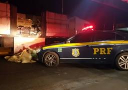 PRF realiza apreensão de mais de duas toneladas de maconha escondidas em carreta em Campos Altos