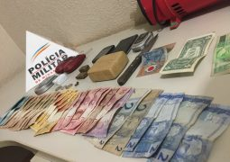 Trabalhando em parceria, PM's de São Gotardo e Carmo do Paranaíba realizam a prisão de cinco pessoas pelo crime de tráfico de drogas