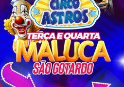 Quer ganhar 10  INGRESSOS para assistir o espetáculo do CIRCO ASTROS em São Gotardo? Clique aqui e saiba como