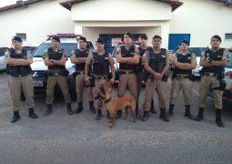 Com o apoio de cadela farejadora, PM de São Gotardo realiza nova apreensão de drogas