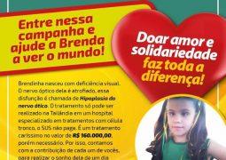 Família realiza campanha beneficente para arrecadar fundos para tratar deficiência visual de garotinha São-Gotardense