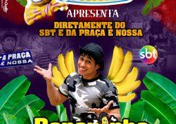"""Principal atração do Circo Astros, Humorista """"Bananinha"""" do SBT se apresenta nesta quinta-feira em São Gotardo"""