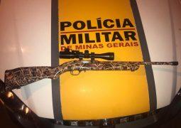 Polícia Militar Rodoviária apreende arma na MG-235 em São Gotardo