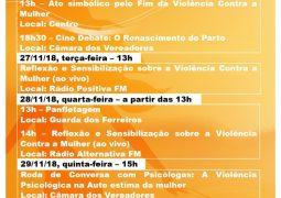 Pelo fim da violência contra as mulheres, Semana de Mobilização, Ativismo e Conscientização será realizada em São Gotardo
