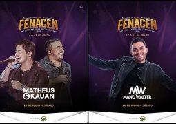 Fenacen confirma mais dois shows da Festa em 2019