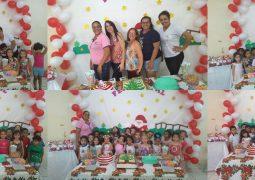 Professoras da Escola Municipal Cecília Meireles realizam festa natalina para alunos do Jardim I