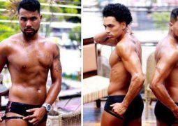 Tem coragem? Homens aderem à moda da fita isolante para reforçar marca de sunga no verão