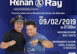 Em parceria com o Hospital do Câncer de Uberaba, dupla sertaneja Renan e Ray se apresenta em São Gotardo em Fevereiro
