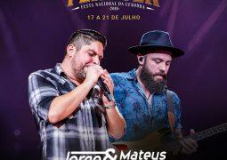 Atrações confirmadas: Dupla Jorge e Mateus fecha grade de shows da Fenacen 2019