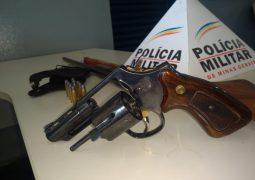 Após denúncia, idoso de 63 anos é preso com armas de fogo na zona rural de São Gotardo