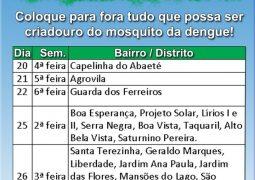 Prefeitura Municipal realizará mutirão de limpeza contra a Dengue em São Gotardo
