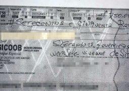Golpe do cheque: Estelionatários distribuem cheques falsos em São Gotardo