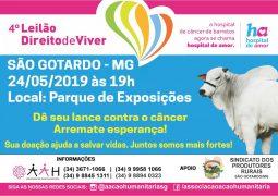Com renda para o Hospital de Amor de Barretos, 4º Leilão Direito de Viver acontece nesta sexta-feira em São Gotardo
