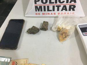 Parte das drogas apreendidas (Foto: PM)