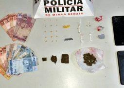 Jovens são presos em São Gotardo com drogas, dinheiro e celulares sem prova de origem