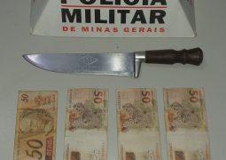 Jovem infrator assalta loja no Centro de São Gotardo e acaba preso pela PM