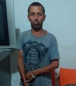 Autor preso em Tiros (Foto: PM)