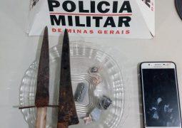 PM prende duas pessoas e apreende menor de idade, todos suspeitos de tráfico de drogas em São Gotardo