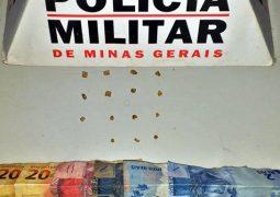 Suspeitos de tráfico de drogas em São Gotardo e Tiros são presos pela PM