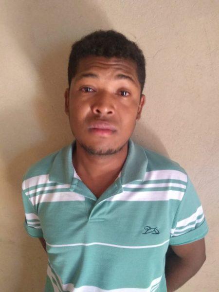 Homem foi localizado e preso pela Polícia (Foto: PM)