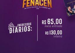 Sindicato dos Produtores Rurais divulga valores de ingressos diários para a FENACEN 2019
