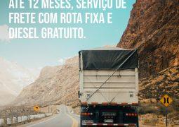 Oportunidade de Emprego: Empresa contrata, por até 12 meses, serviço de frete com rota fixa e diesel gratuito