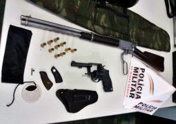 Polícia Militar realiza apreensões de armas de fogo em Guarda dos Ferreiros e São Gotardo