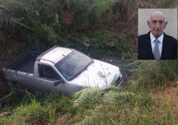 Ex-prefeito de Santa Rosa da Serra morre em acidente de carro na zona rural