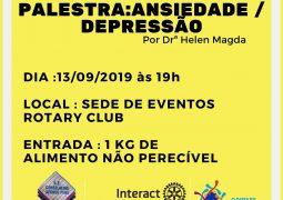 Interact Club promove palestra sobre ansiedade e depressão em São Gotardo
