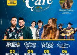 Com shows de Zé Neto e Cristiano e Luana Prado, Festa do Café em Carmo do Paranaíba começa no dia 03 de Outubro