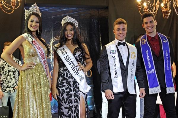 Juntos, Miss e Mister São Gotardo 2019 e 2020 (Foto: SG AGORA)